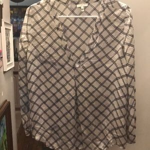 JOIE Small white and black blouse